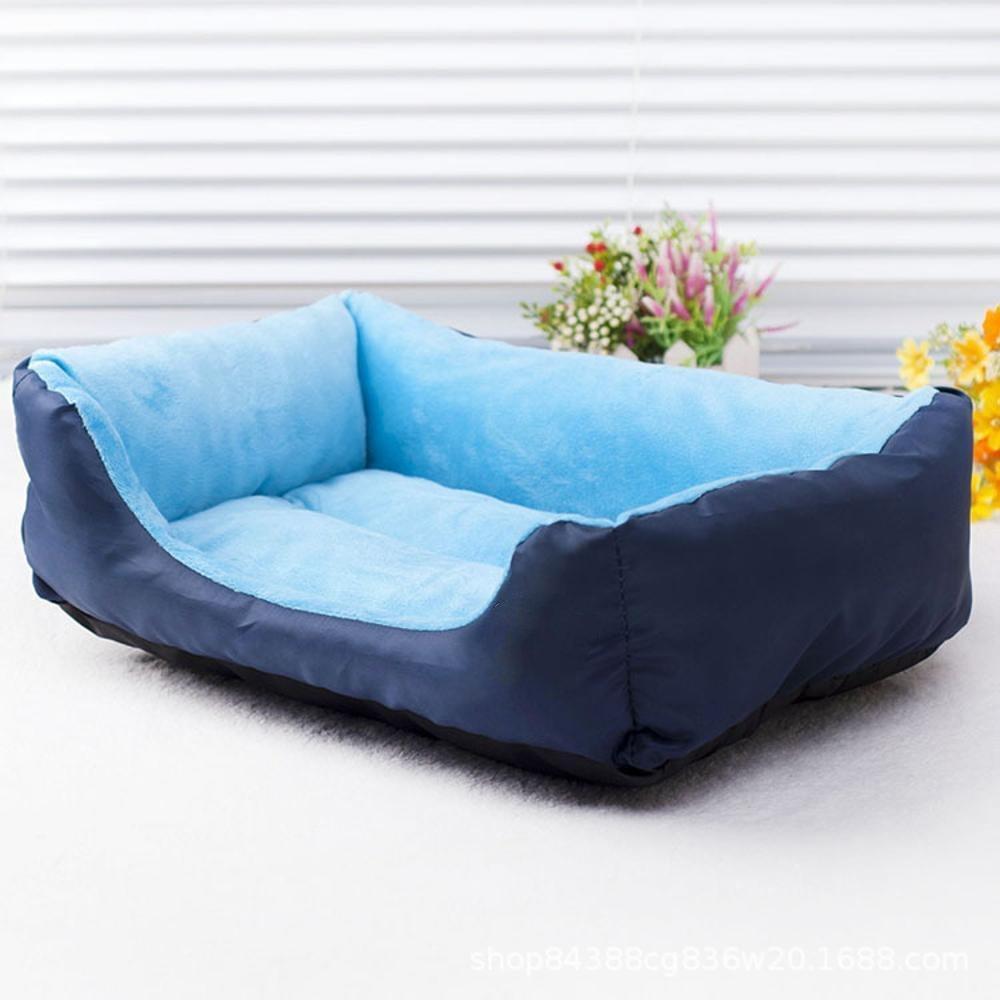 A 45cm35cm12cmYunYilian Pet Bolster Dog Bed Comfort Antibite Oxford Cloth Waterproof Cloth Base Pet Litter Dog mat (color   A, Size   45cm35cm12cm)