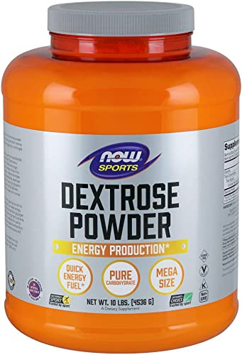 NOW Sports Nutrition, Dextrose Powder Monosaccharide , Energy Production, 10-Pound