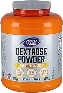NOW Sports Nutrition, Dextrose Powder (Monosaccharide), Energy Production, 10-Pound