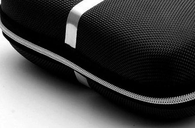 EVA Negro Kentop Gafas Funda Eva de Material Anti estr/és Gafas Gafas de Sol Gafas Estuche con Cremallera y Gancho de Aluminio 17 x 7.4X 6cm