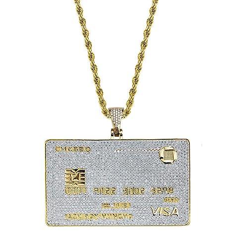 SuaMomente Collar de Moda Circón Visa Diamond Bank Tarjeta ...