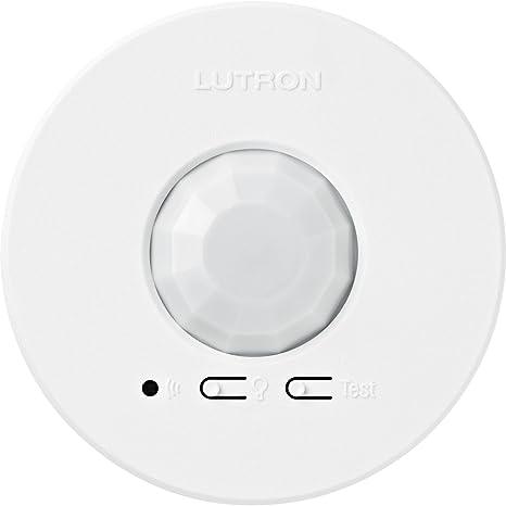 Used Lutron LRF2-OKLB-P-WH Radio Powr Savr Wireless Corner-Mount Occ Sensor