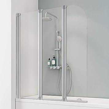 Schulte D1654 01 50 Mampara para bañera, Aluminio natural, 125 x 140 cm: Amazon.es: Bricolaje y herramientas