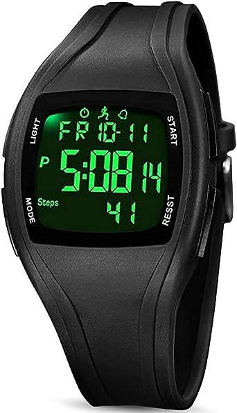 READ Reloj Digital Deportivos, 3D Podómetro Digital Pantalla de ...