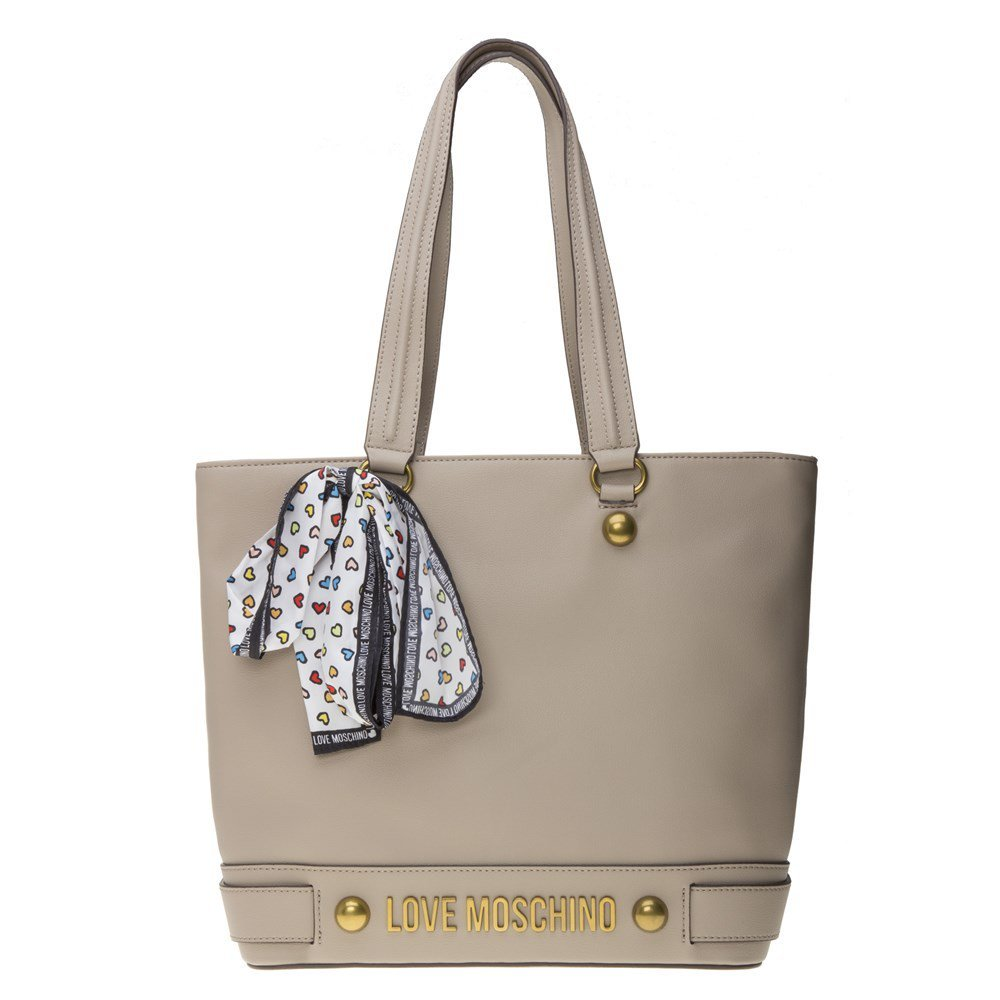 Love Moschino Scarf Womens Tote Natural
