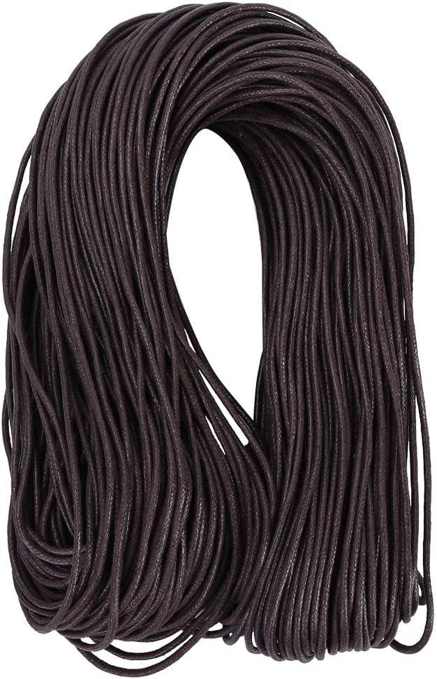 2mm HEEPDD Etiqueta de Cuerda 90 Yardas Hilo Encerado marr/ón Cord/ón de Nylon Etiqueta de Envoltura DIY Cuerda Cuerdas de Envoltura de Regalos Paquete de Joyas Accesorios