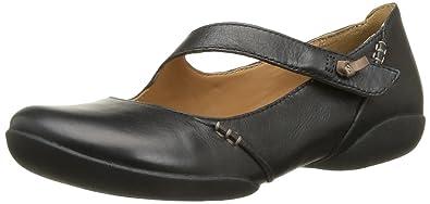 Clarks Felicia Plum, Women's Ballet Flats, Black (black Leather), 36 EU