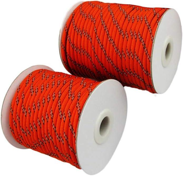 LIOOBO Corde r/éfl/échissante en Nylon de Corde de Tente de guyline de Corde en Nylon de Camping pour Le Camping en Plein air