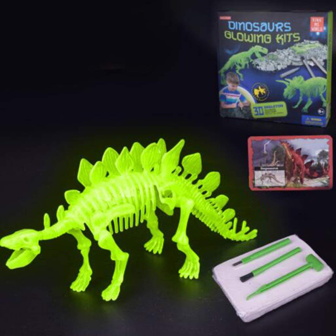Ballylelly Dinosaurios excavan Esqueleto ensamblan Juguetes DIY Inteligencia noctilucentes