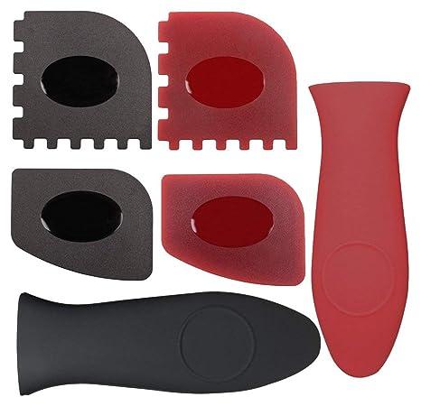 Amazon.com: Juego de 6 rasquetas de plástico para parrilla y ...