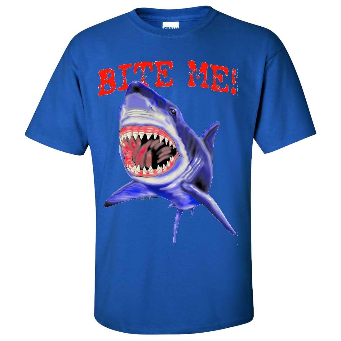 Bite Me Great White Shark Asst Colors T-Shirt/tee