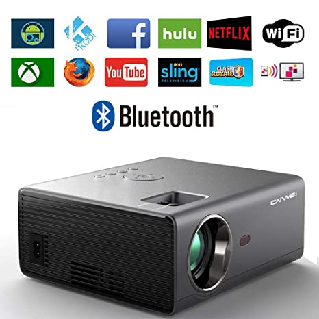 Amazon.com: Caiwei - Proyector de vídeo LCD HD 1080P con ...