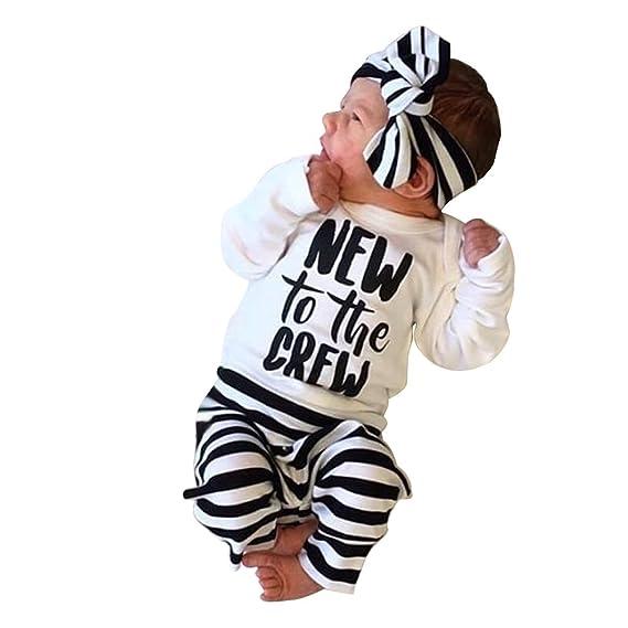 37236677de99 Chinatera Baby Boy s Clothes Printed Romper Stripe Pants Headband ...