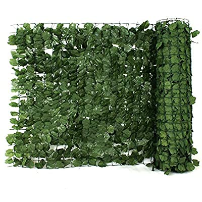 "Zeny Faux Ivy Privacy Screen Artificial Hedge Fencing Or Wall Decor 94"" X 59"" / 39""H"