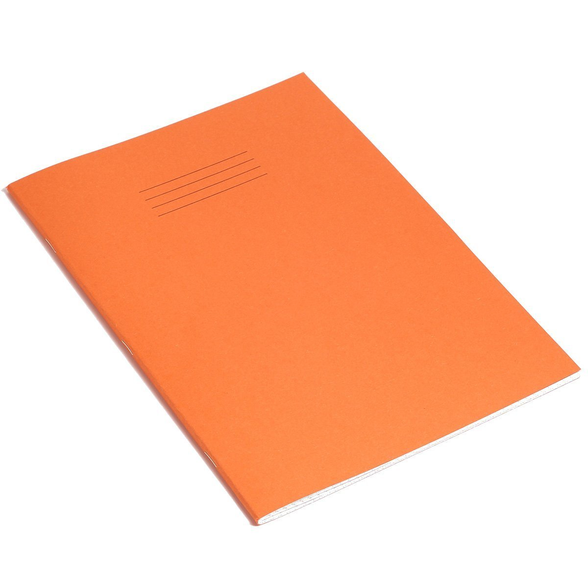 A4 Exercise Books 5mm Squared Orange Cover 80 Page (Single Book) Rhino
