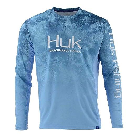 0da957131e0 Amazon.com : HUK Men's Icon X Camo Fade Shirt : Clothing