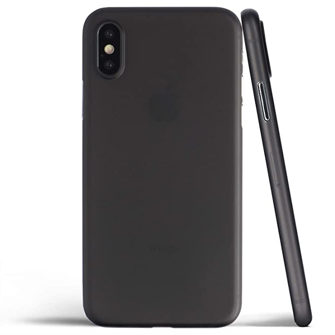 brand new 49406 3741b Thin iPhone Xs Case, Thinnest Cover Ultra Slim Minimal - for Apple iPhone  Xs (2018) - totallee (Frosted Black)