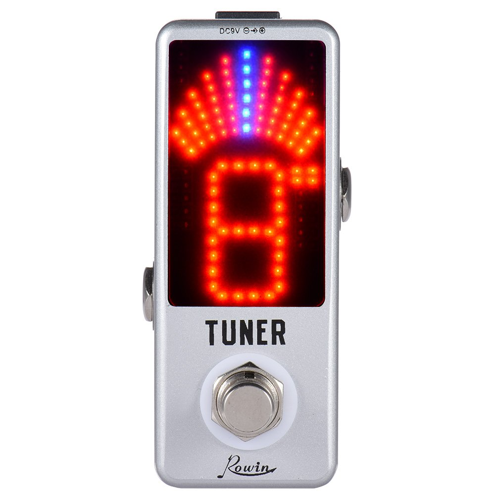 ammoon Mini Chromatic Tuner Pedal Effect LED Display True Bypass for Guitar Bass