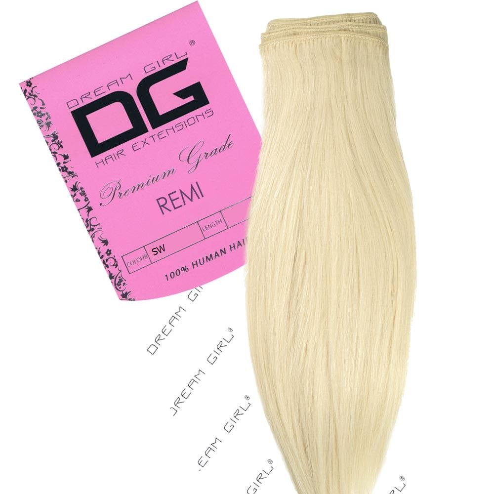 Dream Girl 16 Inch Colour Snow White Remi Weft Hair Extensions