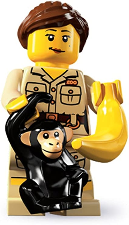 Star Figure Lego New Game Show Host Minifigure Afro and Game Screen T.V