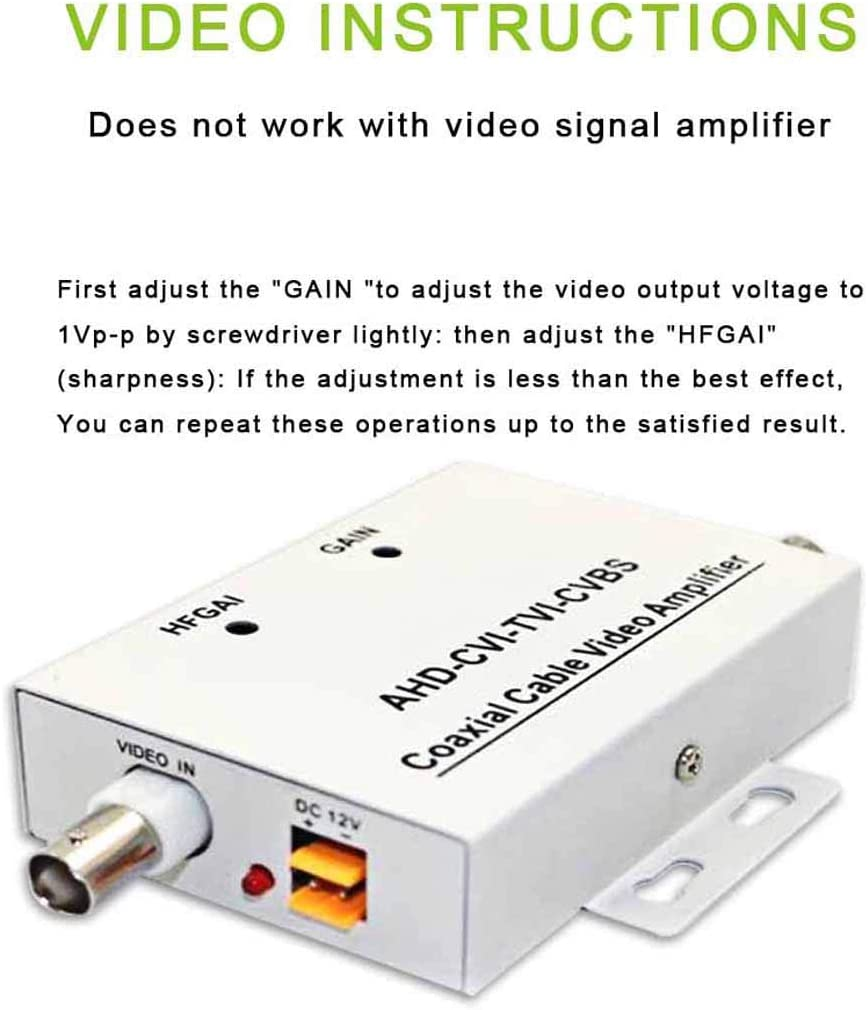 White 1 Input 1 Output XHTECH Coaxial Cable BNC Video Signal Amplifier Booster Splitter Coaxial Distributor for Video Monitoring System CCTV Security Camera