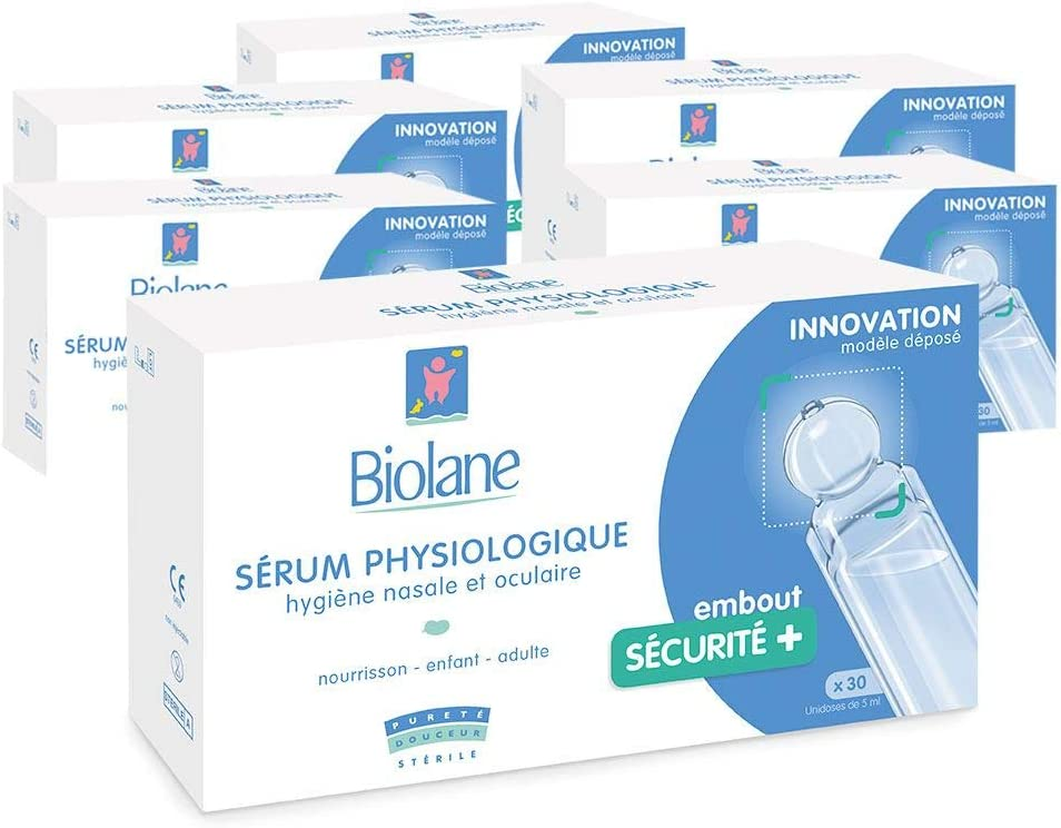 Set aus 6 Biolane physiologische Saline x 30