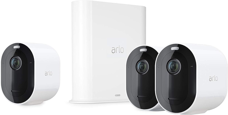 Arlo Pro3 Smart Home Überwachungskamera 3er Set Und Kabelgebundene Video Doorbell Bundle Weiß Baumarkt