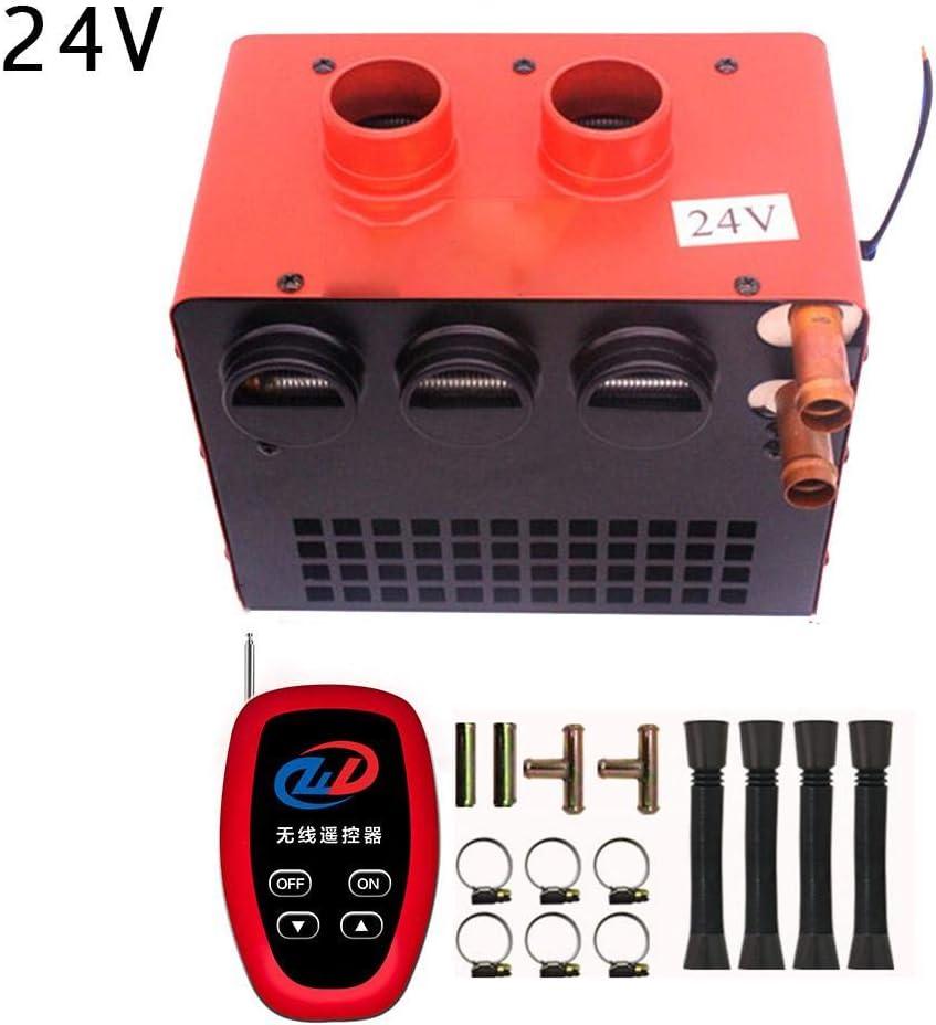 delibett Calefactor para Coche 12V 24V Portátil Calefactor para Coche con Ventilador Deshelador De Ventanas para Calentar, Descongelar Y Desempañar