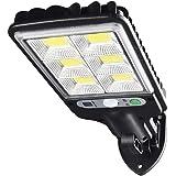 KIICN Luzes solares para ambientes externos, luzes de parede com sensor de movimento solar de 72 LEDs com 3 modos de iluminaç