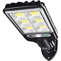 KIICN Luzes solares para ambientes externos, luzes de parede com sensor de movimento solar de 72 LEDs com 3 modos de…