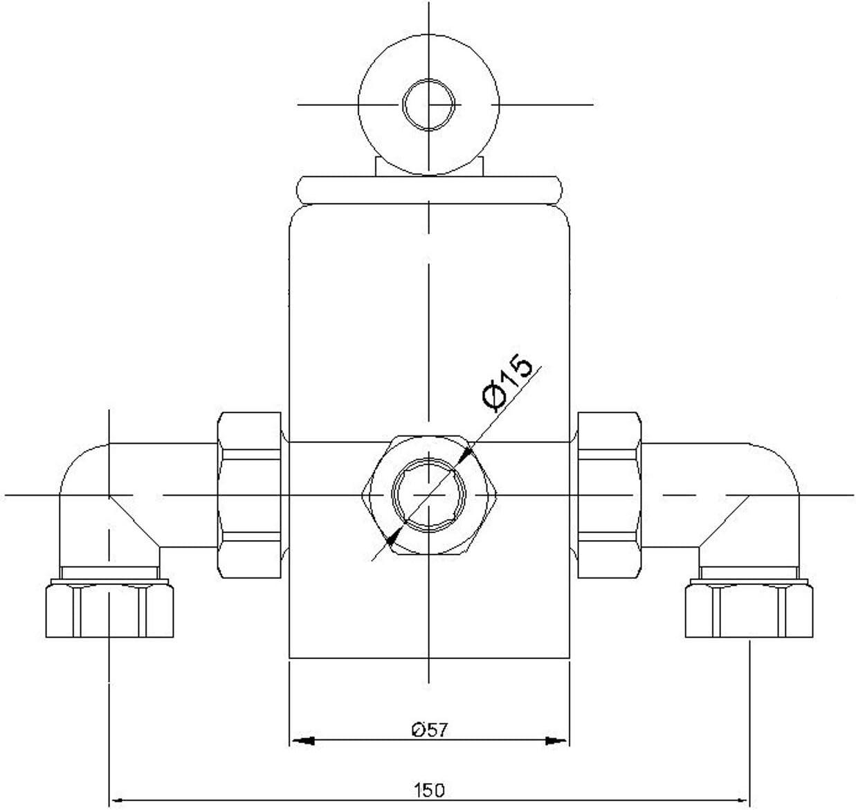 ENKI Mitigeur thermostatique de douche design traditionnel bronze antique