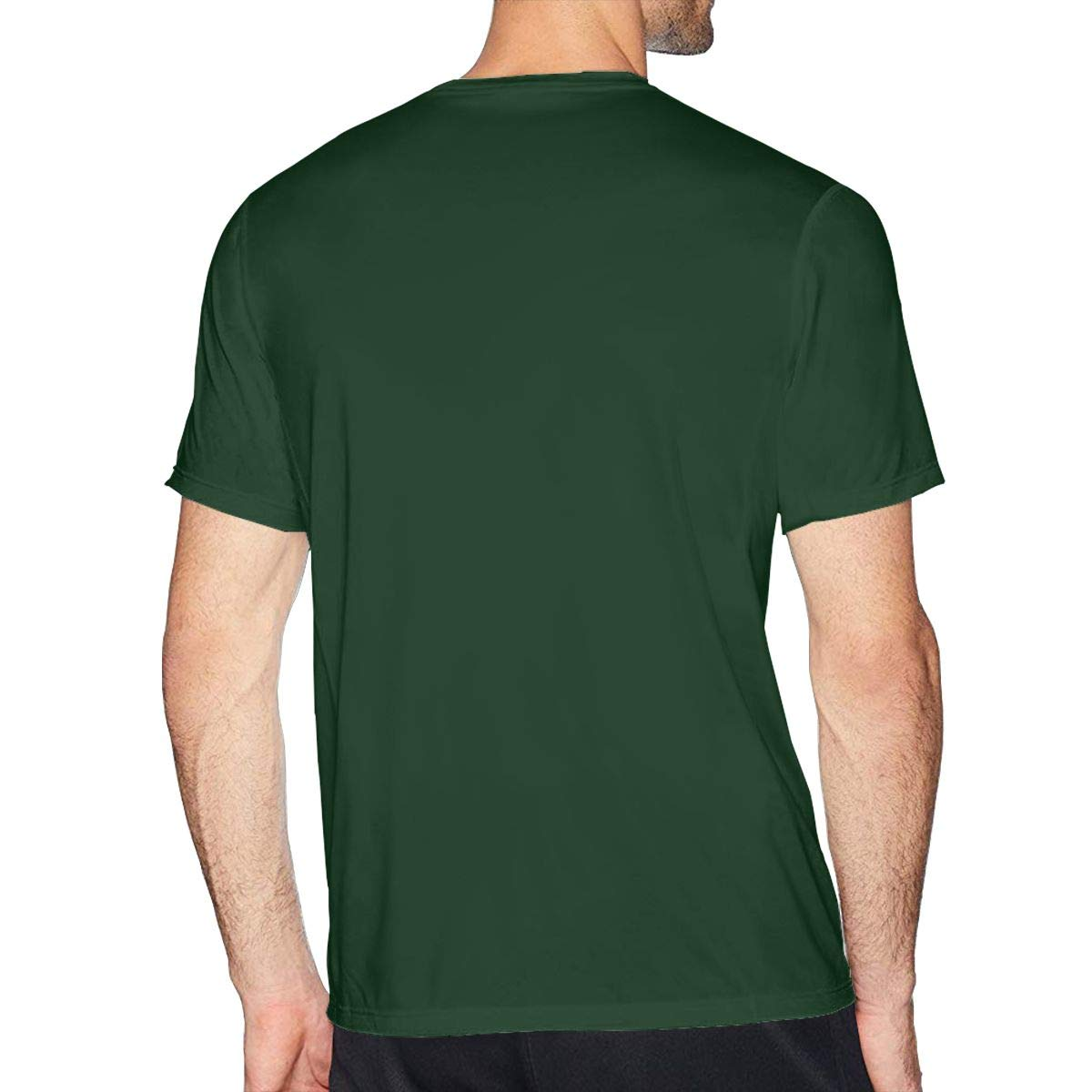 Bfcxbgdsig My Hero College Soft and Comfortable Fashionable Tee with Round Collar Forest Green