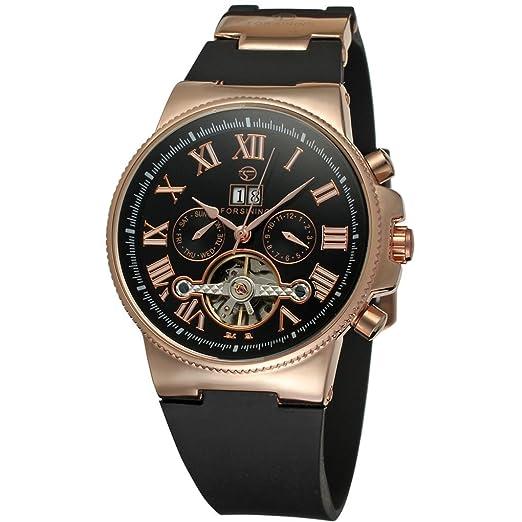 forsining automático para hombre Tourbillon Reloj de pulsera con pantalla analógica fsg2373 m3r2: Amazon.es: Relojes