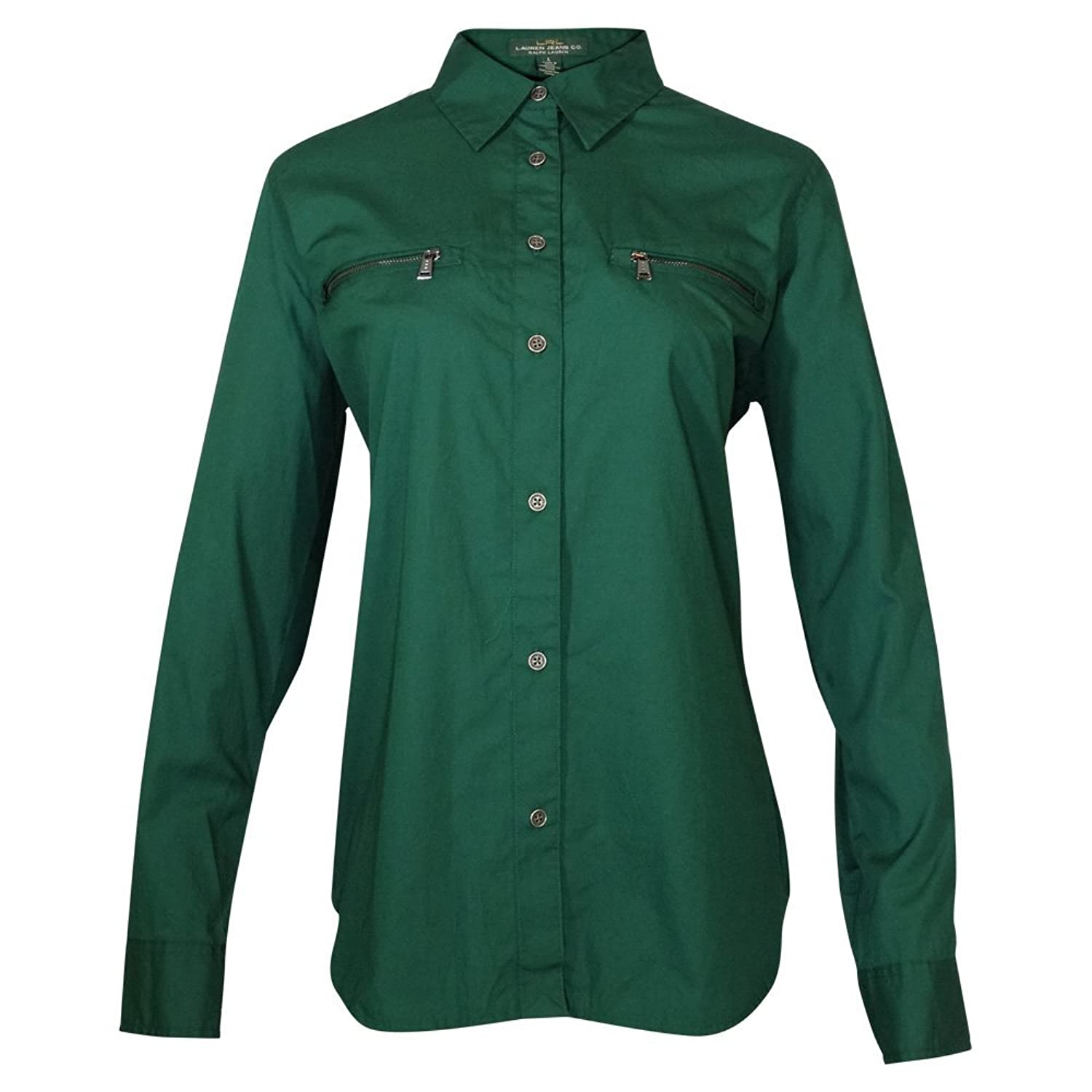 Lauren Jeans Co. Button Down Army Green Shirt (Large)