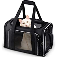 Comsmart Cat Carrier, Pet Carrier Airline Approved Pet Carrier Bag Collapsible 15 Lbs Dog Carrier for Small Medium Cats…