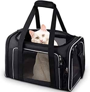 Comsmart Cat Carrier, Pet Carrier Airline Approved Pet Carrier Bag Collapsible 15 Lbs Dog Carrier for Small Medium Cats Dogs Puppies Kitten