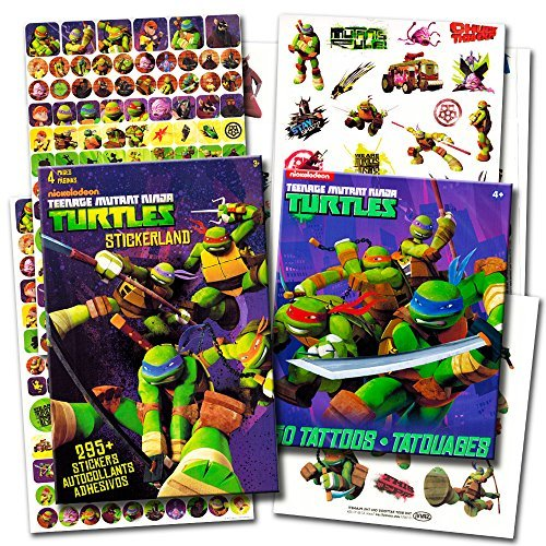 TMNT Teenage Mutant Ninja Turtles Stickers & Tattoos Party Favor Pack (270 Stickers & 50 Temporary Tattoos) -