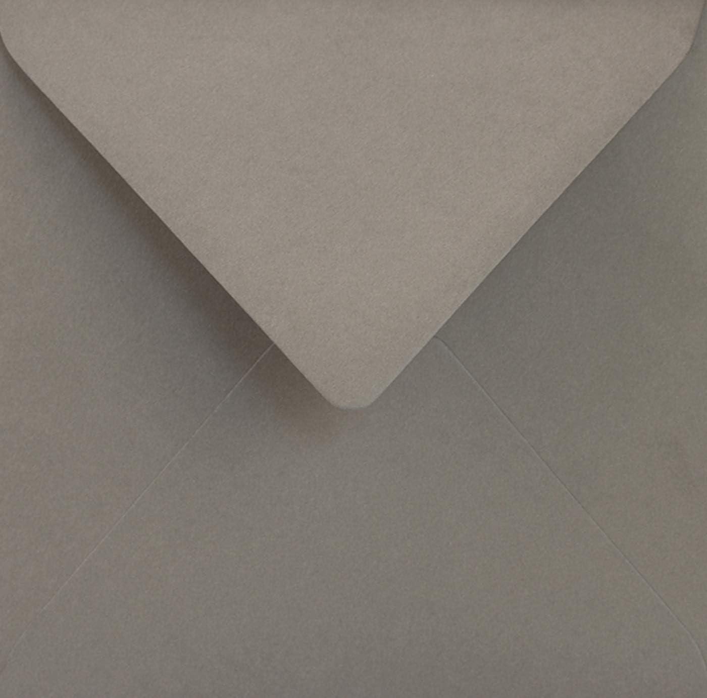 100 graue quadratische Umschl/äge ohne Fenster Spitzklappe 153x153 mm 115g Sirio Color Pietra farbige Briefh/üllen quadratisch Briefumschl/äge bunt f/ür Hochzeits-Karten Einladungs-Karten