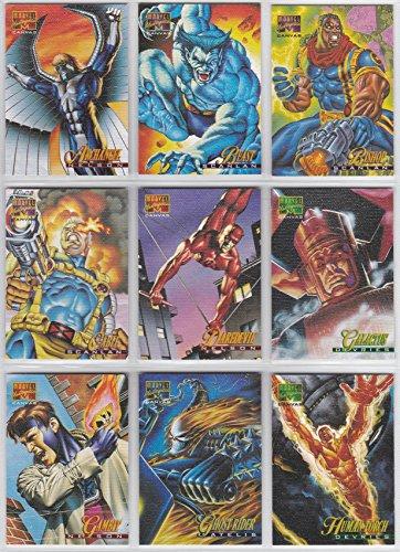 - 1995 Marvel Masterpieces Series CANVAS Insert Set of 22 Cards NM/M Spider-Man, X-Men