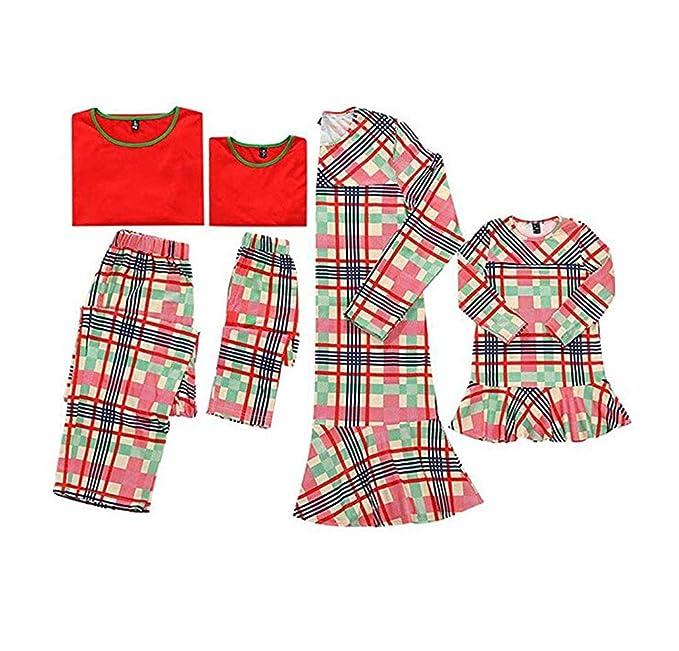 CHRONSTYLE Conjunto de Pijamas Familiares, Trajes para Mujeres Hombres Niño, Ropa de Dormir Invierno