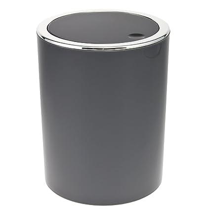 bremermann Papelera con Tapa basculante, Cubo de Basura para baño, plástico, 5,
