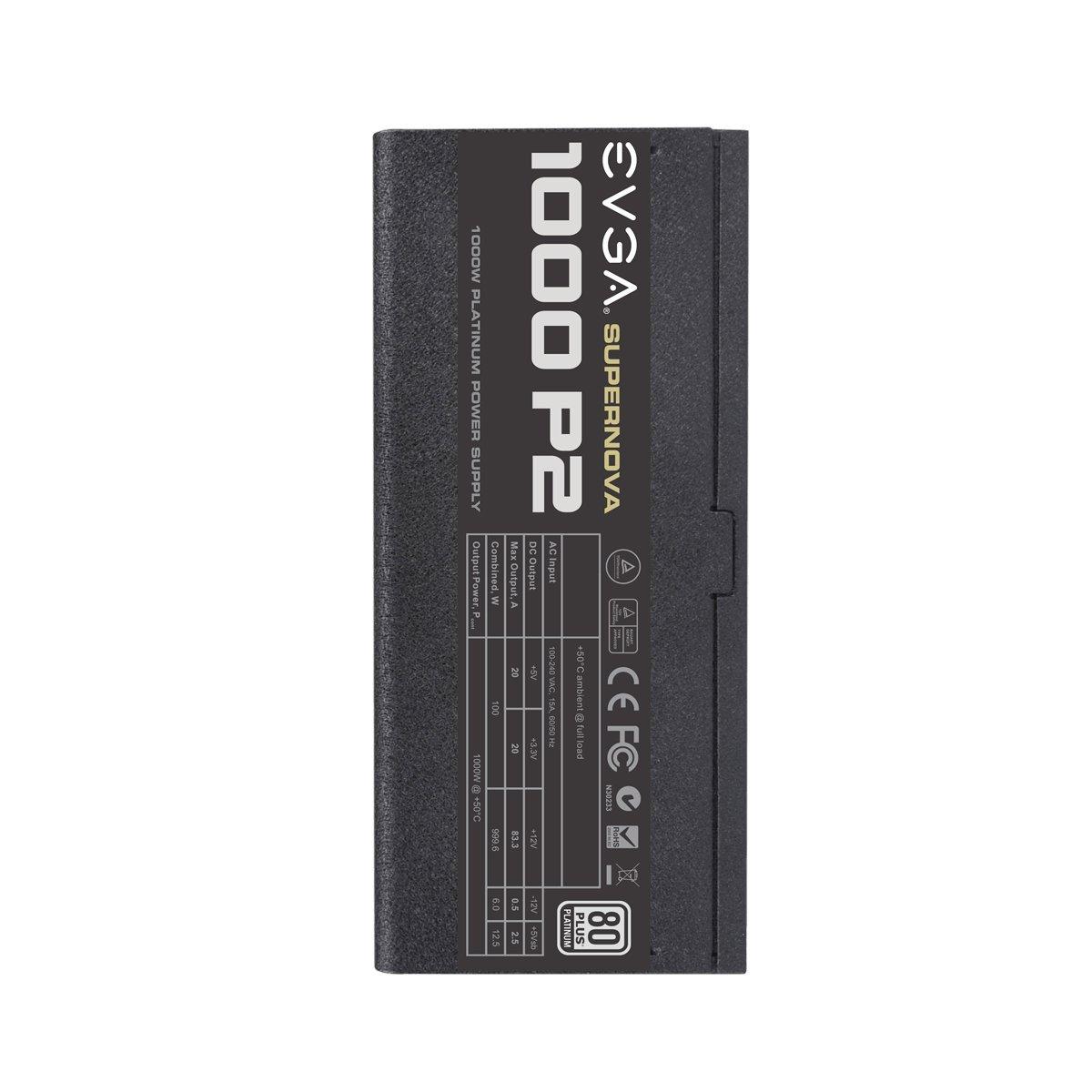 EVGA ECO Mode 80+ PLATINUM 850W Includes FREE Power On Self Tester Power Supply 220-P2-0850-X3 Black EVGA SuperNOVA 850 P2 Fully Modular