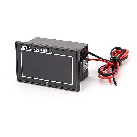 DC 2,5 – 30 V 2 cables LED Digital Display Panel voltímetro eléctrico voltímetro