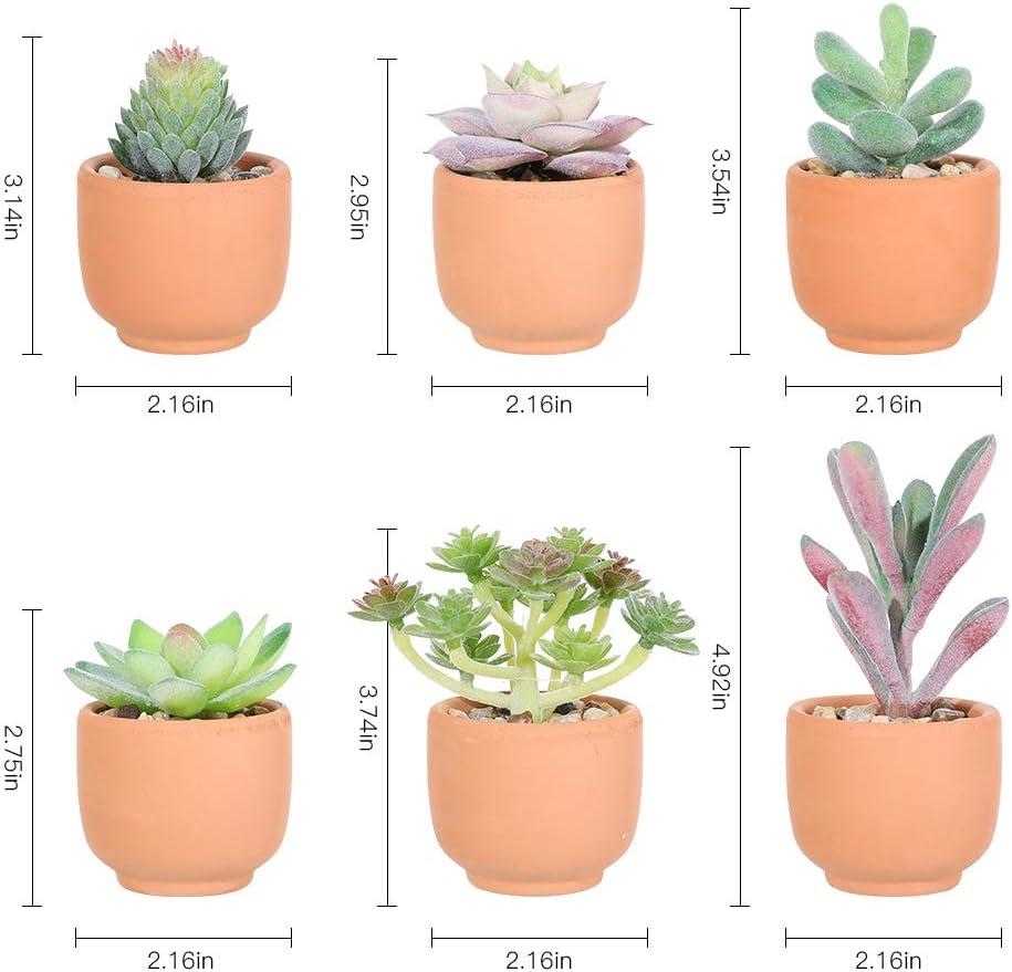 Veryhome Plantas Artificiales 3 Piezas Real Touch ...