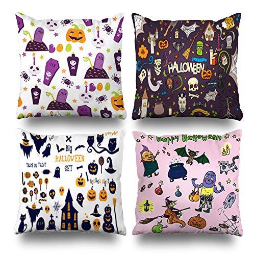 Pakaku Set of 4 Decorativepillows Case Throw Pillows