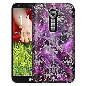 LG Verizon G2 Case, Slim Fit Snap On Cover by Trek Damasks Pattern on Nebula Case