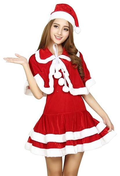 Amazon.com: Drasawee - Disfraz de Papá Noel de dos piezas ...