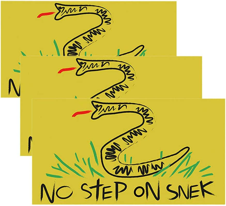 OFEFAN⭐【US STOCK】No Step On Snek Sticker Decal Gadsden Flag America Don't Tread On Me Patriot - Decals Best for Phone, Laptops and Cars Window Bumper Premium Quality Vinyl UV Protective Laminate(3PCS)