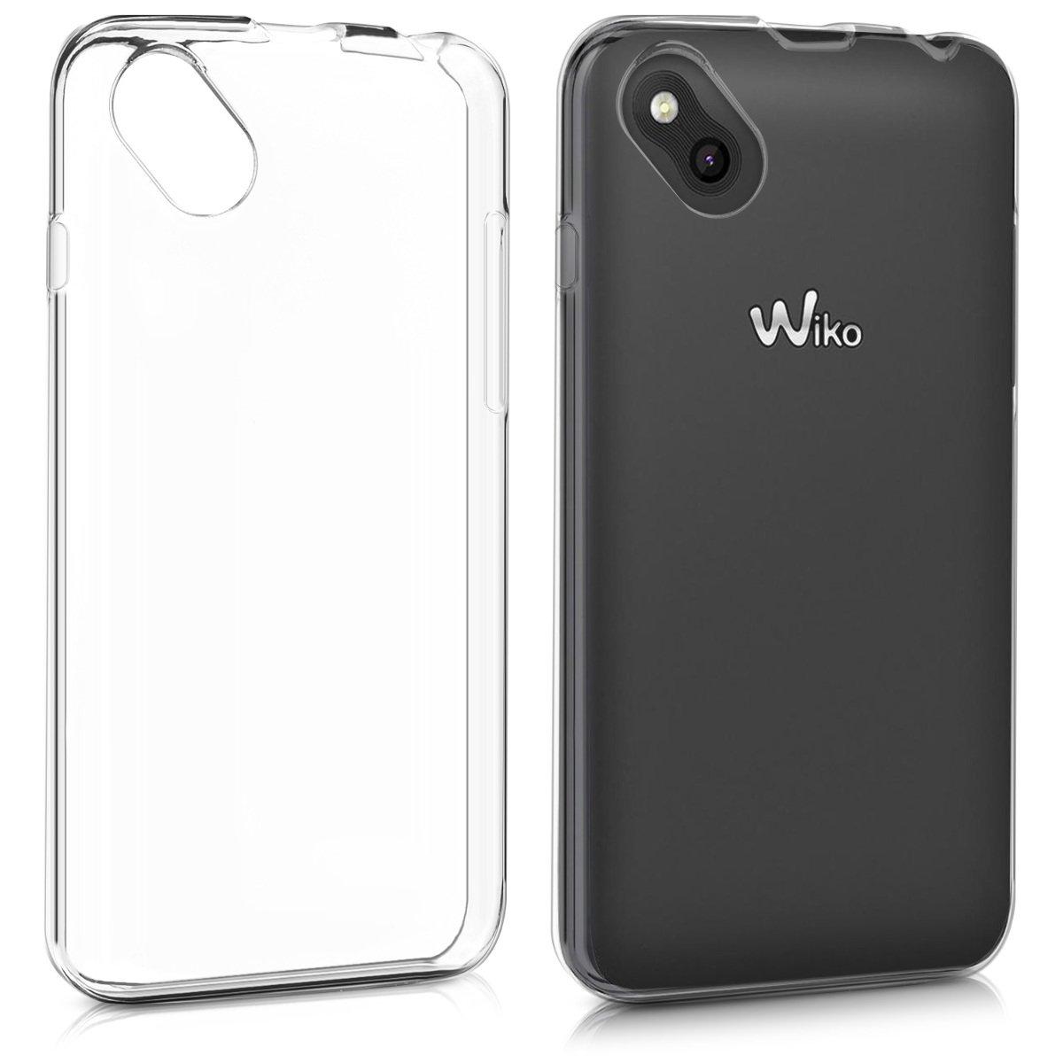 kwmobile Funda para Wiko Sunny - Carcasa Protectora de [TPU] para móvil - Cover [Trasero] en [Transparente]