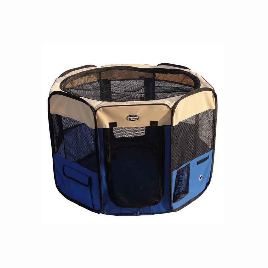 Felice shopping CHONGWFS Portable Oxford Cloth Dog Tenda Tenda Tenda Dog Cage Dog Nest Pieghevole Rimovibile Traspirante Dog House Outdoor Travel Pet Fence (colore   Blu, Dimensioni   M)  spedizione veloce in tutto il mondo